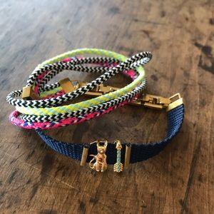 KEEP Wrap Bracelet, Cat & Arrow Charms